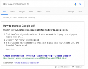 featured snippets on Google