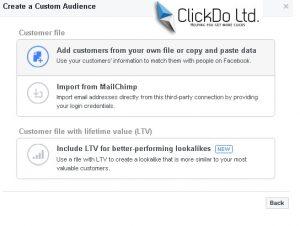 Custom Audeince Target In Facebook