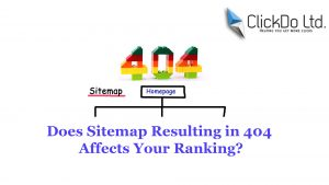 sitemap with 404 url