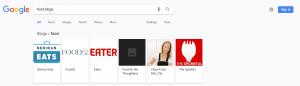 Food Blog - Google Blog Update