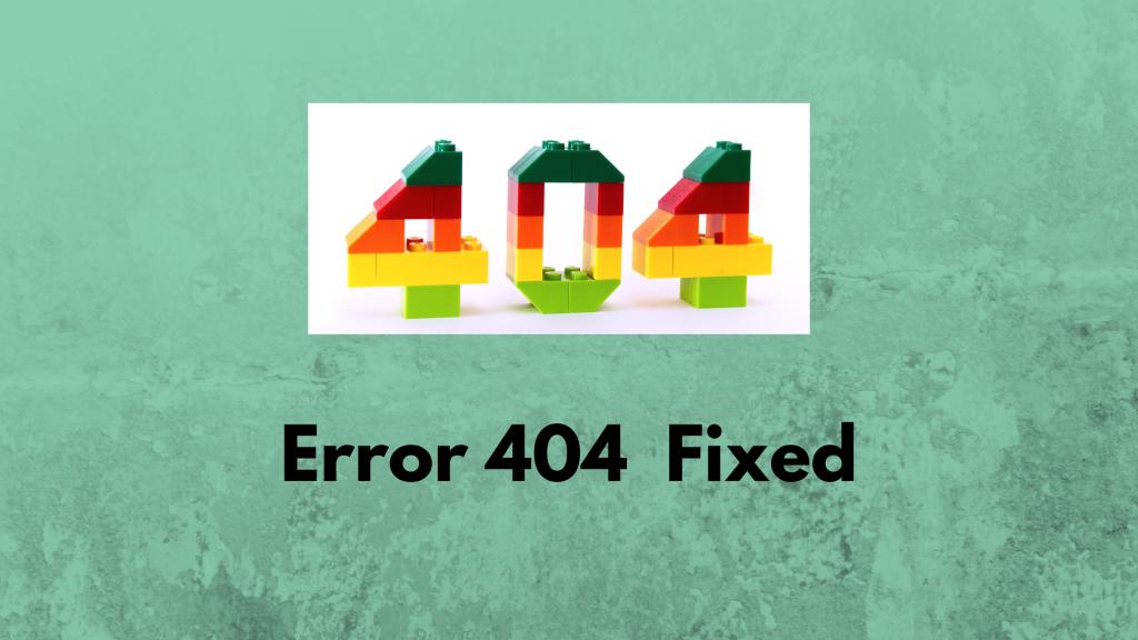 fix 404 not found error
