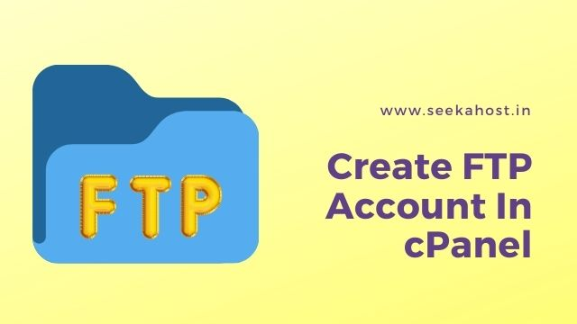 create FTP account in cPanel
