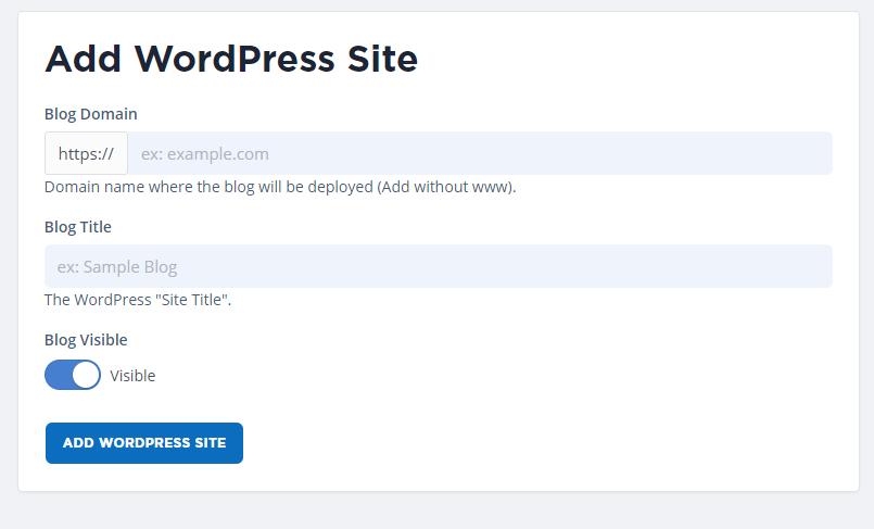 Add wordpress blog